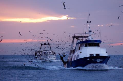Fishing trawler boat