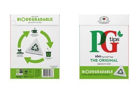 PG tips plant based packs
