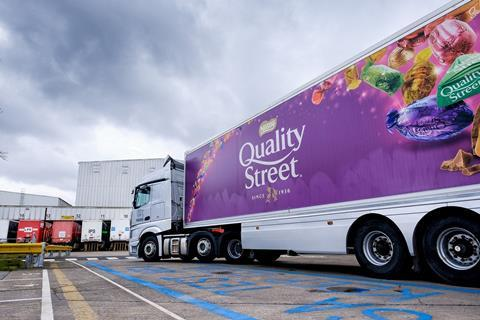 Nestle quality street lorry