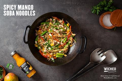 Wicked Spicy Mango Soba Noodles