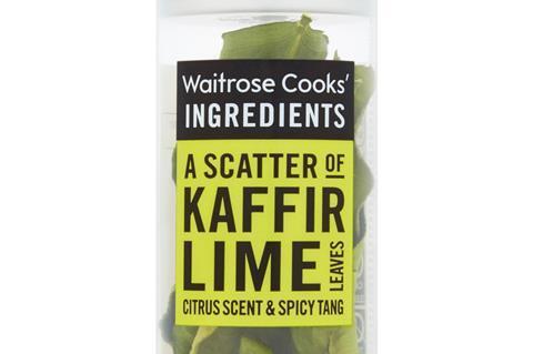 Waitrose lime leaves