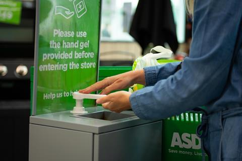 Asda sanitisation stations