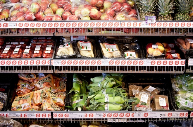 Organic products in a Danish Super Brugsen store