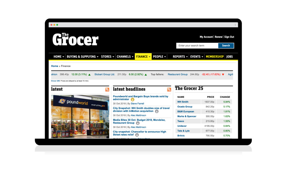 Grocer_FinanceHomePage