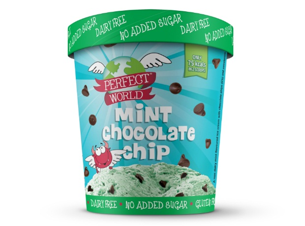 Perfect World Mint Choc Chip ice cream